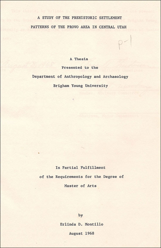 Cover of Burton's thesis
