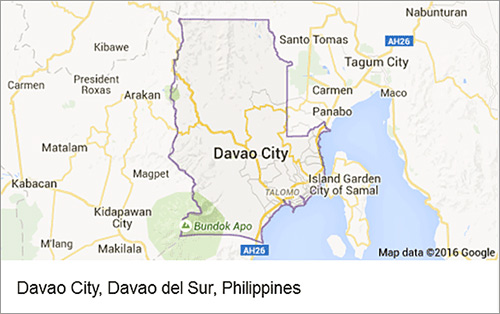 Davao City, Google Map