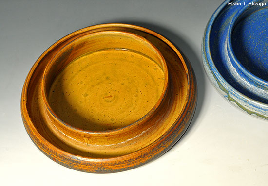Stoneware moat bowls designed by Elson T. Elizaga, Cagayan de Oro, Philippines